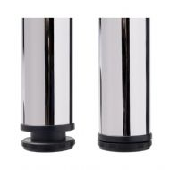 BREAKFAST BAR / TABLE LEGS 710mm & 870mm high - CHROME or BRUSHED NICKEL finish (ECF BB710 / BB870)